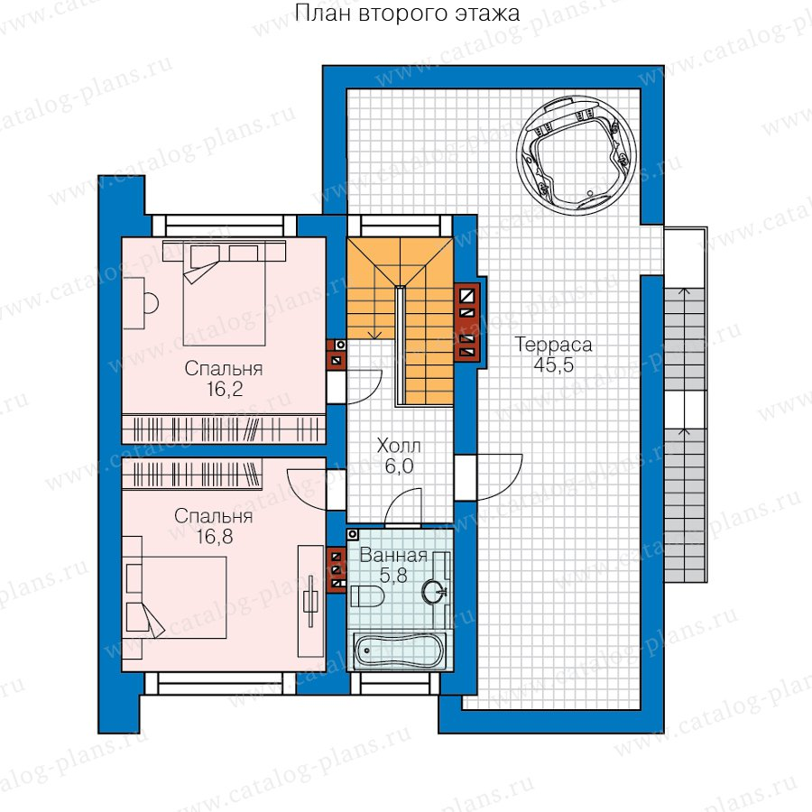 План 2-этажа проекта 62-07